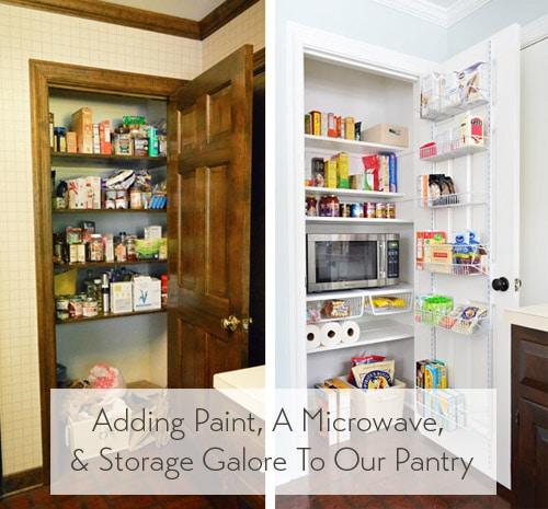 adding tons of pantry storage