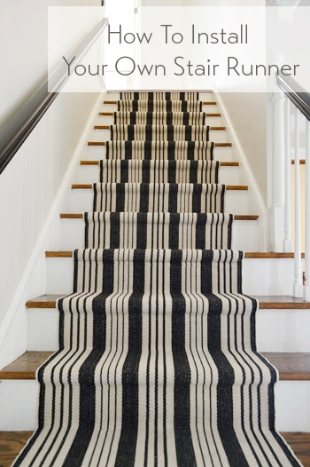 How To Install A Stair Runner Yourself Young House Love | Converting Carpeted Stairs To Wood | Stair Tread | Staircase Makeover | Laminate Flooring | Wood Flooring | Risers