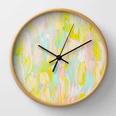 Brush Strokes Clock
