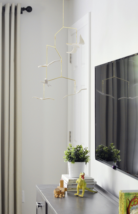 How-To-Hide-TV-Wires-Pottery Barn Kids Seagull Mobile