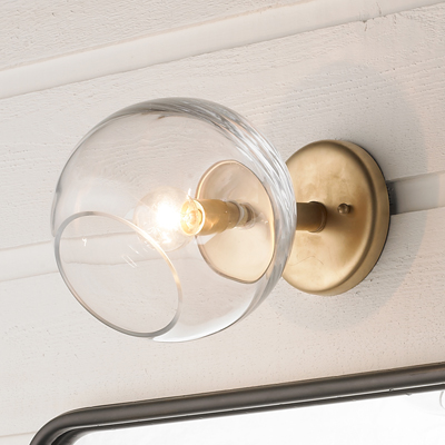 Wonky Glass Sconce for Shades of Light