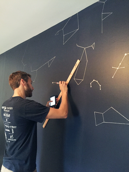 Boys Outer-Space-Bedroom Painting-Constellations-On-Wall