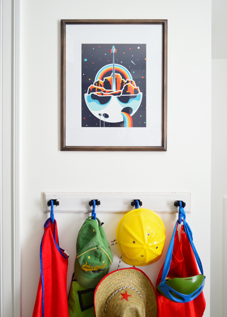 Boys Outer-Space-Bedroom Help-Ink-Rocket-Art