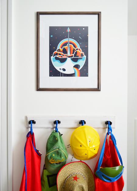 Boys Outer-Space-Bedroom Help-Ink-Rocket-Art