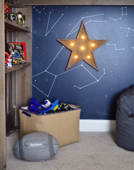 Boys Outer-Space-Bedroom-Loft-Bed-Play-Area
