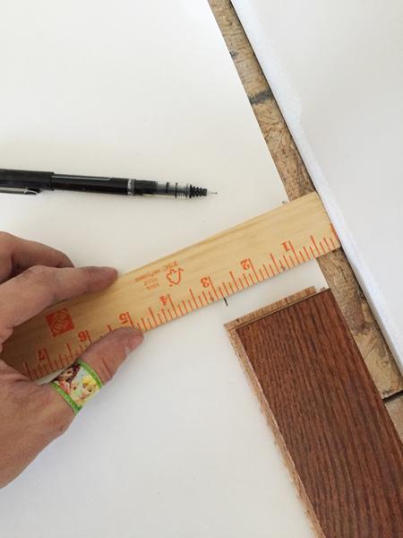 install hardwood flooring marking expansion gap