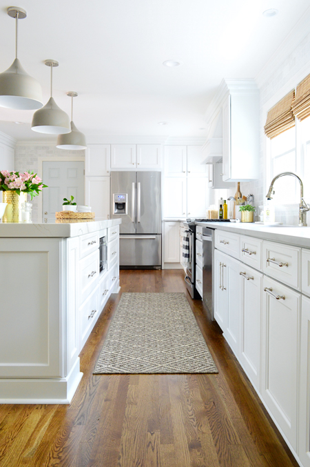 kitchen reno coolest gadgets remodel chapter 3 the big reveal young house love white final down aisle to fridge