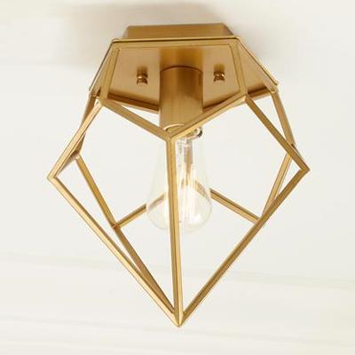 Gold Geometric Flush Mount