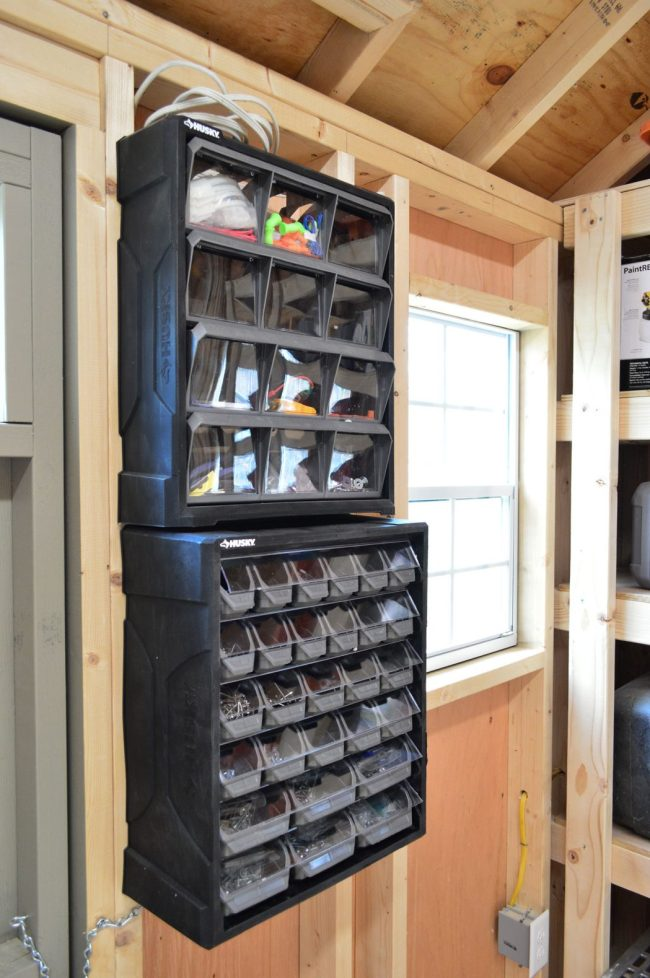 shed storage ideas small part organizers nails screws