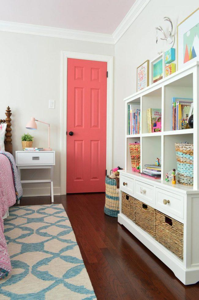 girls bedroom bookshelf toy chest storage