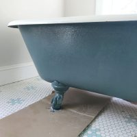Refinish Clawfoot Tub Painted Sherwin Williams Riverway