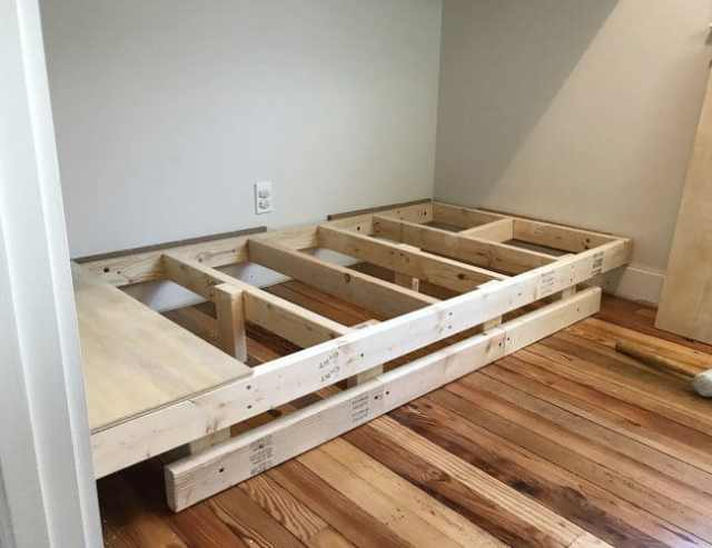 bottom bunk reconstructed to float off of the floor