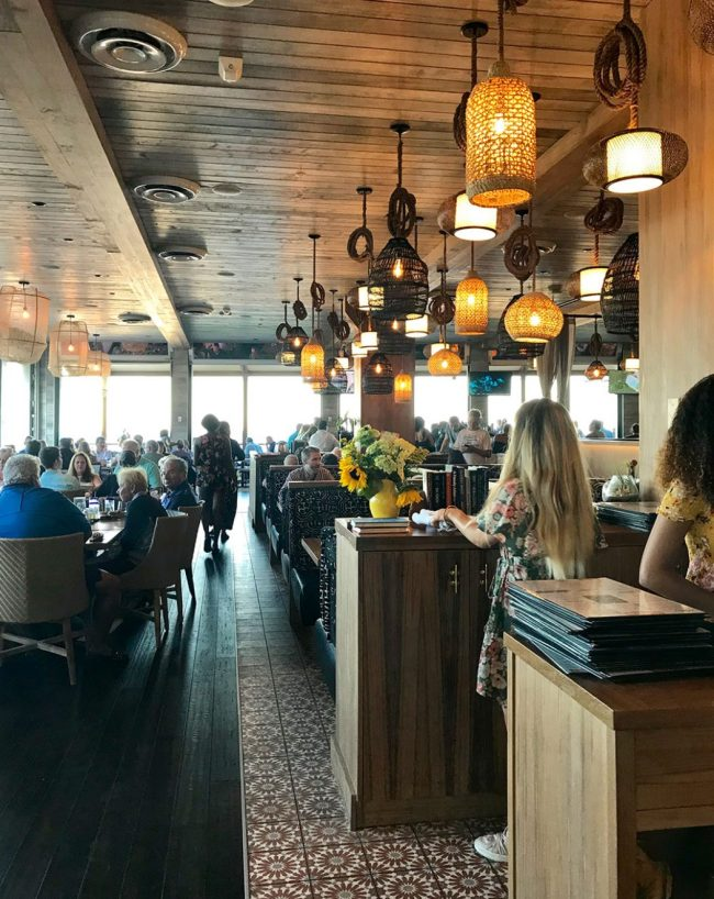interior decor at Beach House Restaurant in Pompano Beach Florida