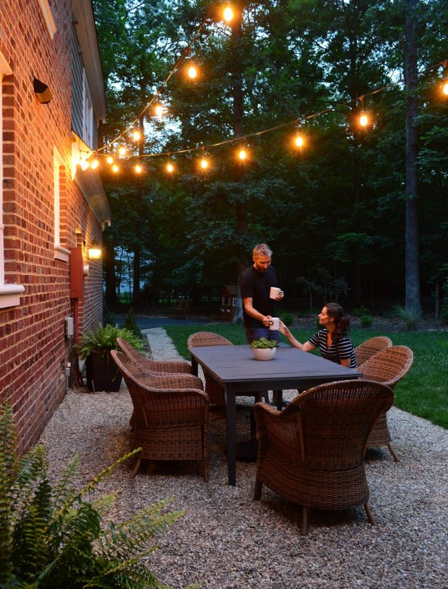 Our Pea Gravel Patio, Garden Lights, & Your Other Backyard Questions Answered