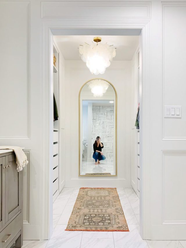 Sherry Selfie In Arched Brass Mirror In Master Closet