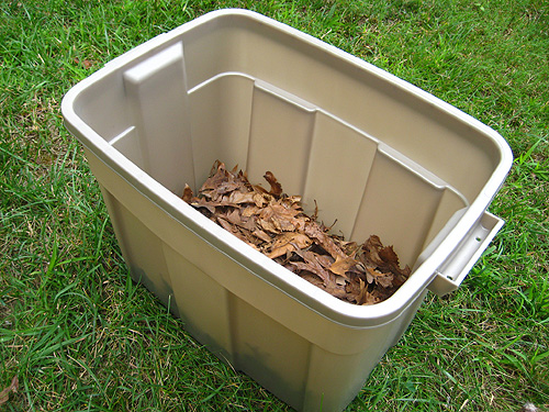 Step 4: Place Dirt On Top Of The Leaves Or Newspaper Until The Container Is  1/2 Full. Again, PLENTY Of That.