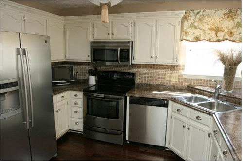 laminate kitchen countertops home depot white sinks this reader submitted makeover is truly stunning