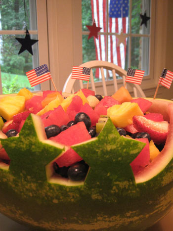 We Made A Fun Little Watermelon Centerpiece For The 4th Of July Heres How