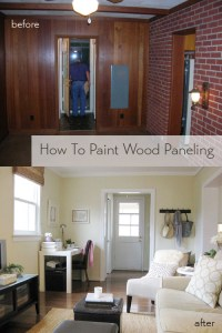 How To Paint Wood Paneling | Young House Love