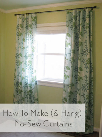 How To Make No Sew Curtains And Make A Window Look Way Bigger Young House Love