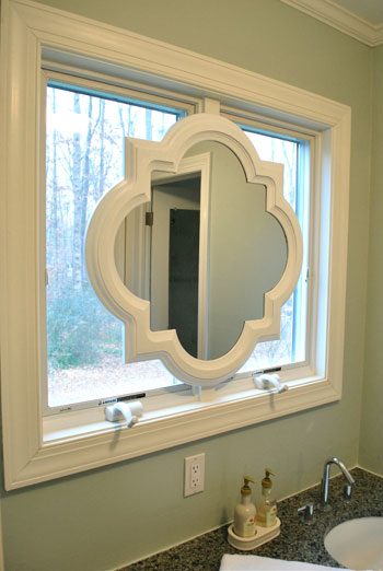 Painting Our Quatrefoil Mirror Over The Sink  Young House