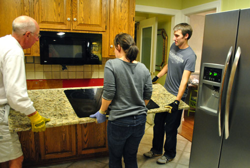 Moving Cabinets Around  Removing Granite Counters  Young