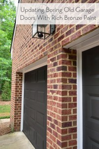 Painting Our Garage Doors A Richer, Deeper Color | Young ...