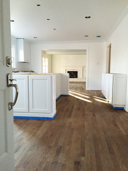 Refinishing your hardwood floors what to expect young for Flooring or cabinets first