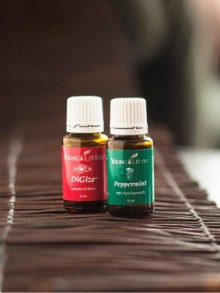 Peppermint and DiGize - Young Living Essential Oils