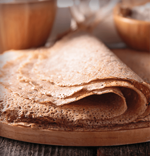 Einkorn Wolfberry Crepes Recipe