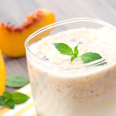 Peach Mango Breakfast Smoothie