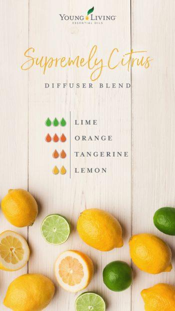 Supremely Citrus diffuser blend
