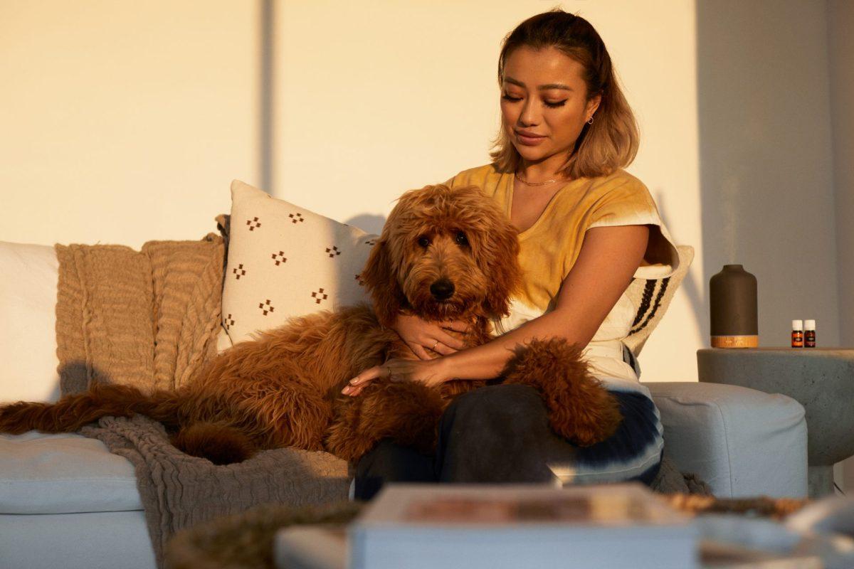 Girl & Dog - Young Living Lavender Life Blog