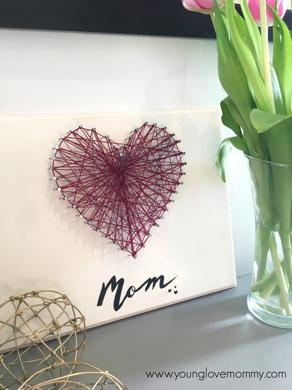Mother's Day String Art Craft