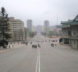 Downtown Kaesong, North Korea.