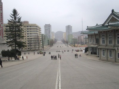 Downtown Kaesong, North Korea.