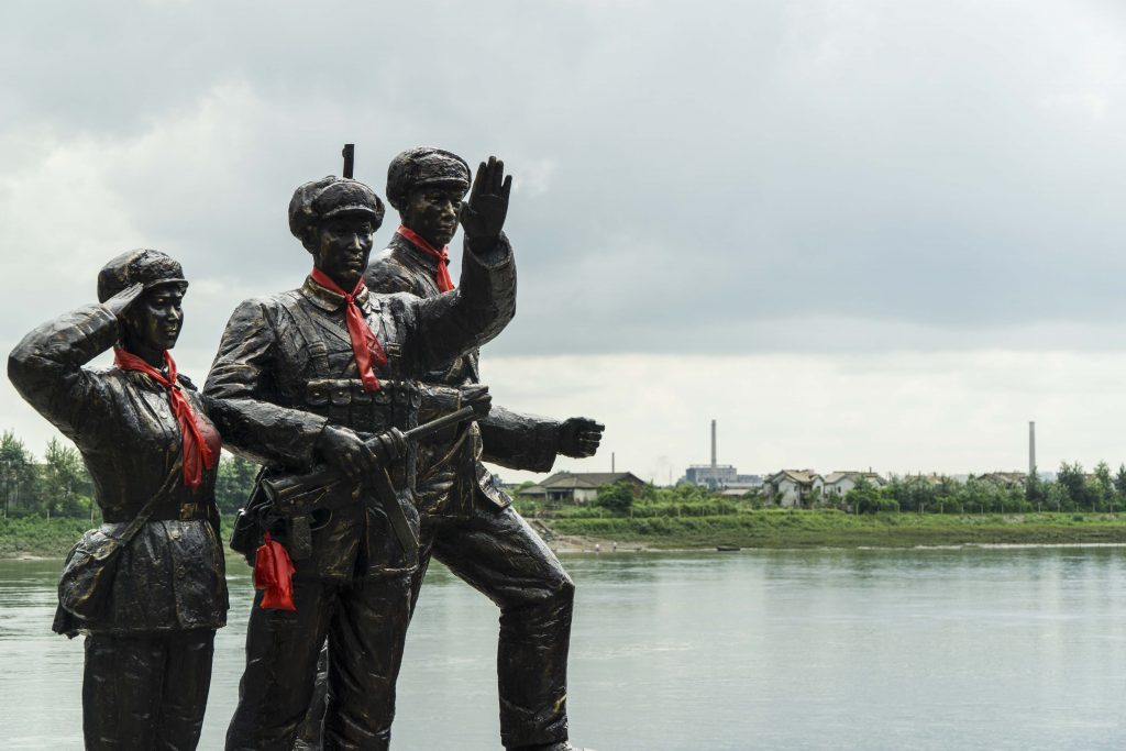 A chinese monument to the Korean War