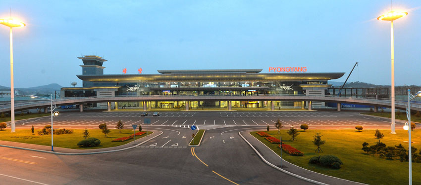 Pyongyang Airport outside