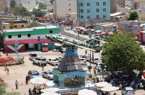 Somaliland and Somalia: Independence monument in down town Hargeisa
