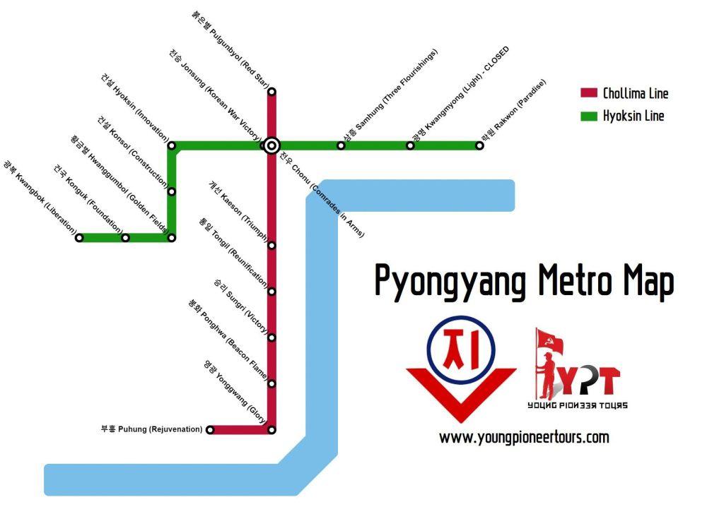 Pyongyang Metro Map