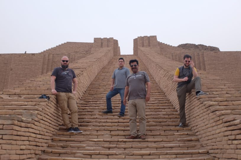 Visa for Iraq, the kids are on the ziggurat