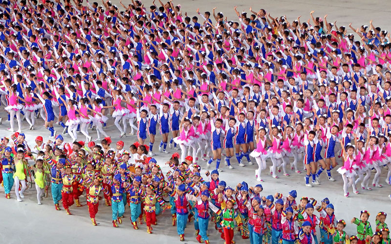 Performers at the 2018 'Glorious Fatherland' Mass Games