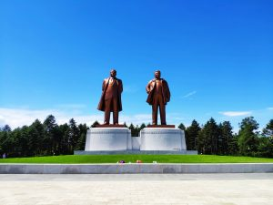 Statues of Kim Il Sung and Kim Jong Il at Mansudae.