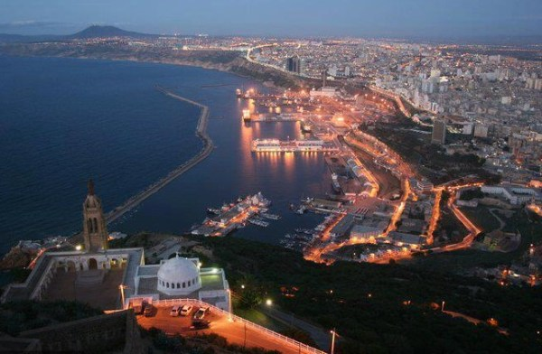 The sea front in Oran, Algeria