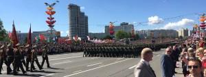 Minsk Belarus -- Victory Day Parade