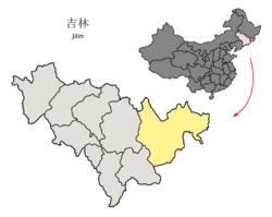 Map of Yanji