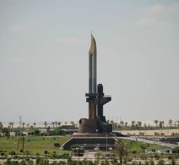 An AK-47 monument in Egypt.