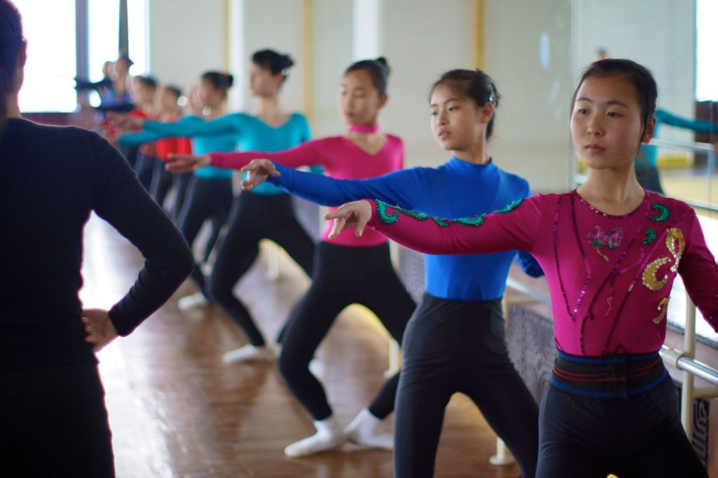 Ballet dancers at the Mangyongdae School Children's Palace