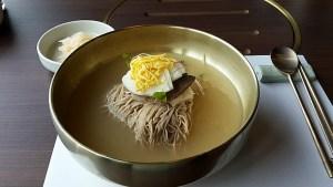 A bowl of Pyongyang cold noodles.