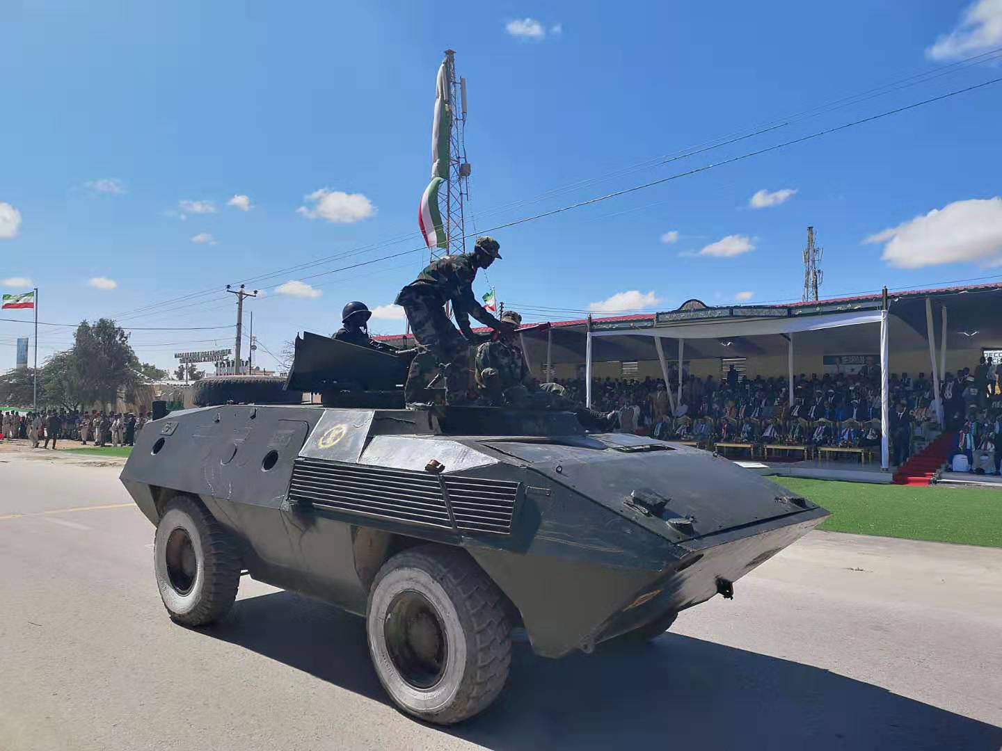 Armored vehicle at the Somaliland Independence Day Parade